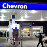 Gasoline pumps situated at a Chevron station in Milpitas, Calif., in February. A federal judge ruled that a record $9.5 billion environmental-damage award against Chevron was tainted. ASSOCIATED PRESS