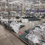 As reported by NPR: Detainees sleep and watch television in a holding cell where hundreds of mostly Central American immigrant children are being processed at a U.S. Customs facility in Nogales, Texas.