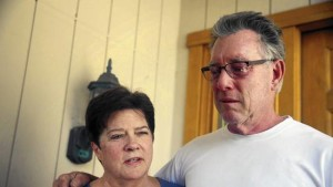 As reported in the LA Times: Liz Sullivan and Jim Steinle, parents of Kathryn Steinle, who was fatally shot Wednesday in San Francisco. A suspect with seven felony convictions who had been deported five times has been arrested in connection with the shooting. (Lea Suzuki / San Francisco Chronicle)
