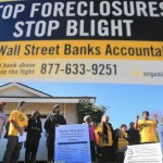 Experts said it's highly unlikely that former homeowners could unravel their foreclosures and win back their houses. Above, advocacy group Alliance of Californians for Community Empowerment holds a news conference in Carson in 2012. (Photo Credit, Allen J. Schaben / Los Angeles Times)