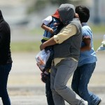 Immigrant children and their mothers arrive in Guatemala after being deported from the United States in 2014. The migrants had come to the U.S. to flee a humanitarian crisis in their homeland. Photo Credit CNN Report, 5/9/16