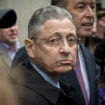 Former Democratic New York State Assembly Speaker Sheldon Silver exits Manhattan Federal District Court after being sentenced to 12 years on corruption related charges, Tuesday, May 3, 2016. Photo Credit: Bryan R. Smith / Bryan R. Smith